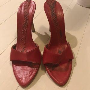 Roberto Cavalli Leather Stilettos Made in Italy